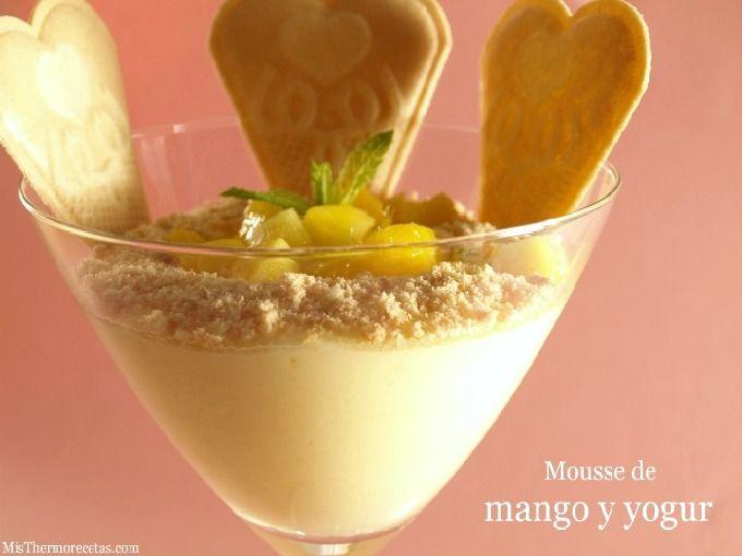 Mousse de mango y yogur - MisThermorecetas