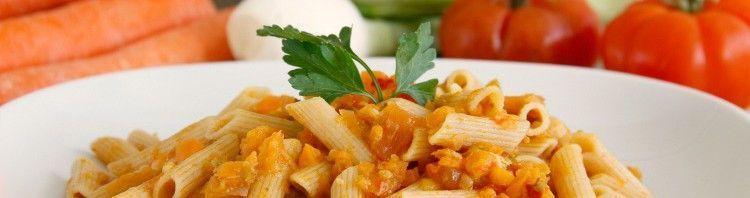 Pasta integral con verduras y mozzarella - MisThermorecetas