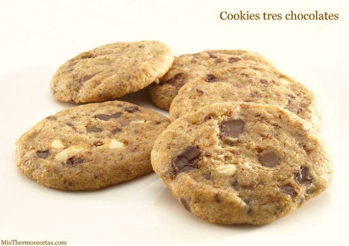 Cookies tres chocolates - MisThermorecetas