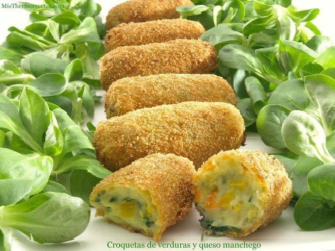 Croquetas de verduras y queso manchego - MisThermorecetas