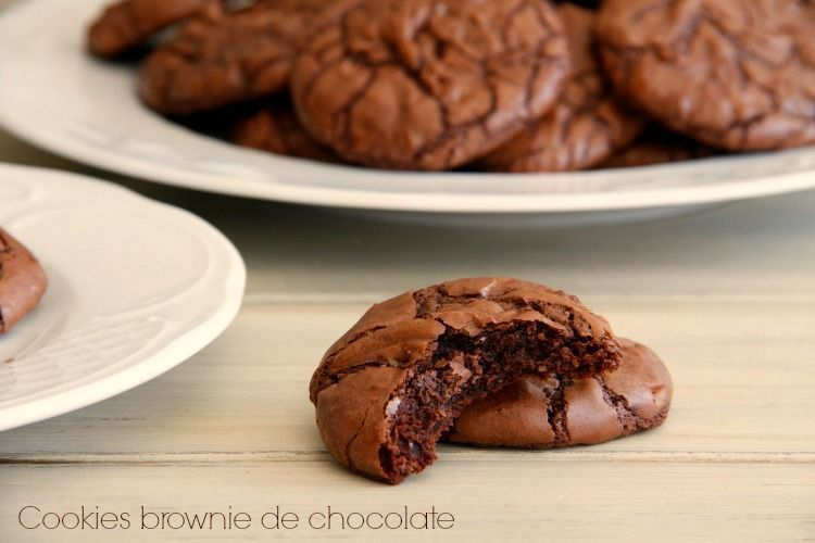 Cookies brownie de chocolate - MisThermorecetas
