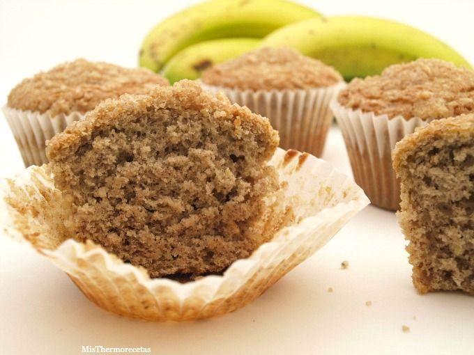 Muffins de plátano - MisThermorecetas