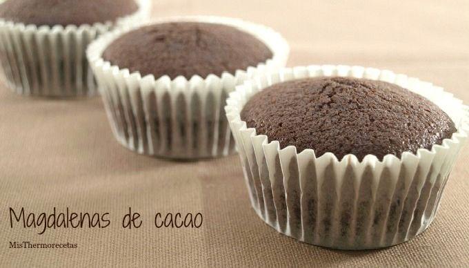 Magdalenas de cacao - MisThermorecetas