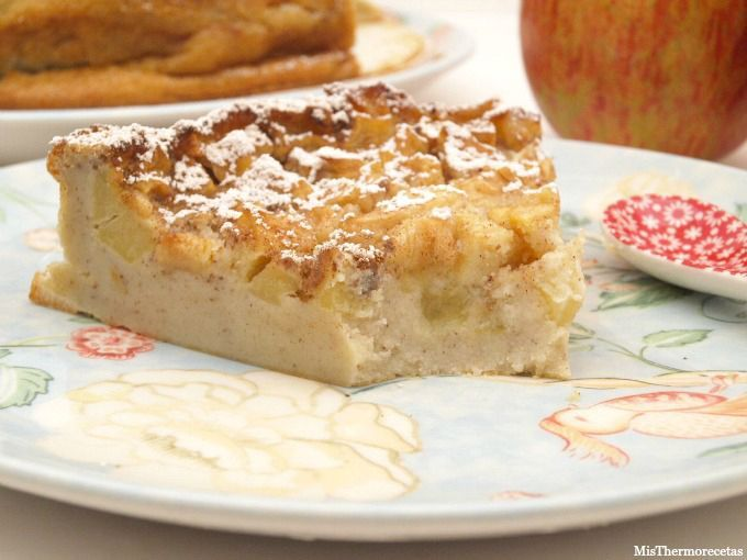 Clafoutis de manzana - MisThermorecetas