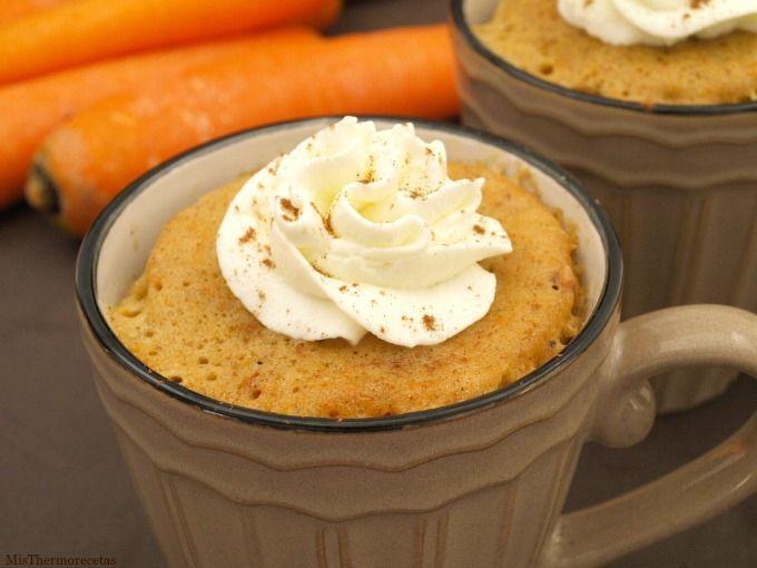 Mug Cake de zanahoria y almendras crocanti - MisThermorecetas