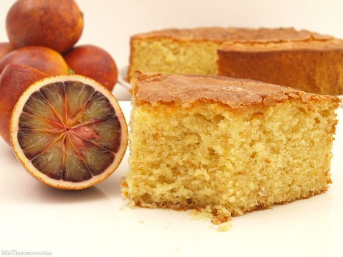 Bizcocho de naranja sanguina - MisThermorecetas