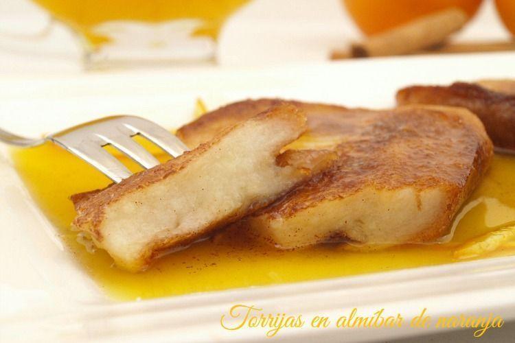 Torrijas en almíbar de naranja - MisThermorecetas