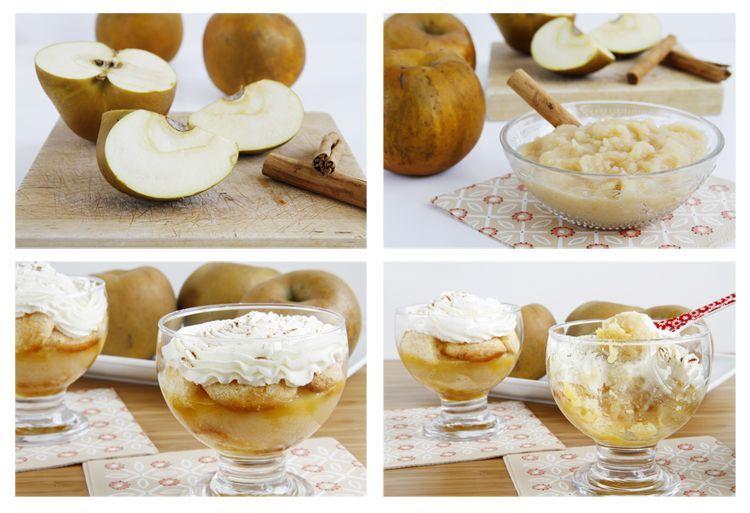 Postre de manzanas con crema de queso - MisThermorecetas
