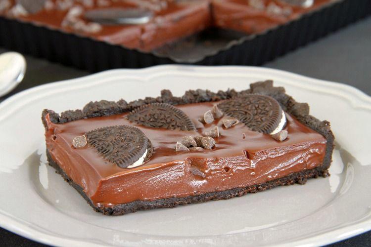 Tarta fácil de chocolate y Oreo - MisThermorecetas