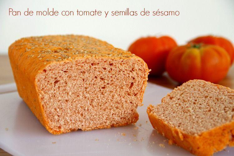 Pan de molde con tomate y semillas de sésamo - MisThermorecetas