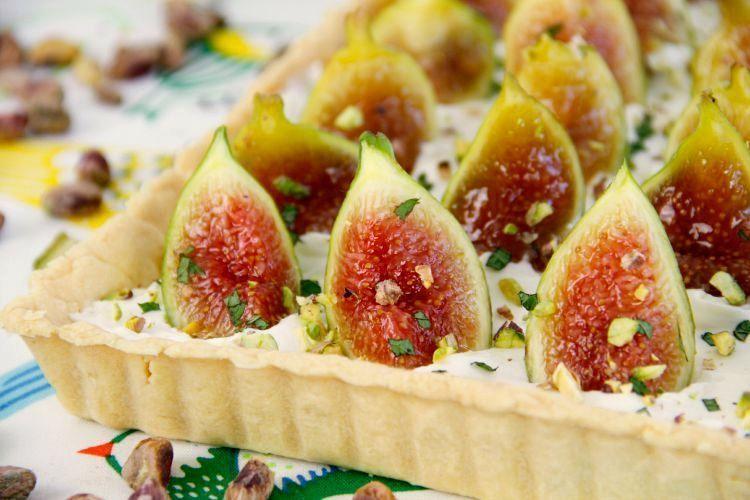 Tarta de higos, crema de queso y menta - MisThermorecetas