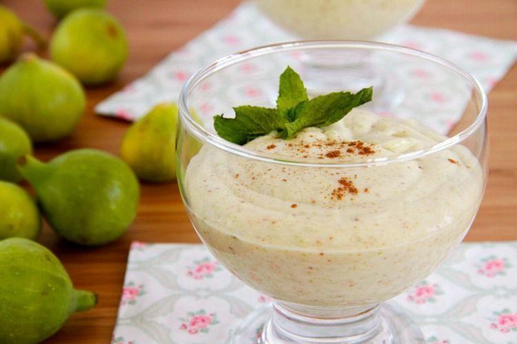 Crema de higos y yogur griego - MisThermorecetas