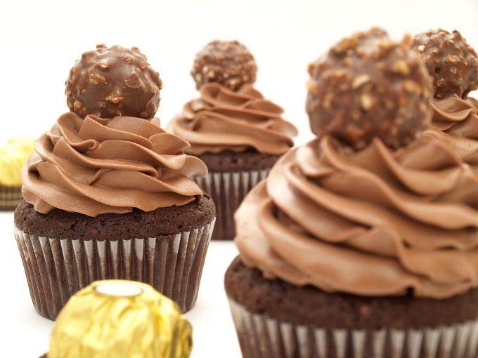 Cupcakes de Ferrero Rocher - MisThermorecetas
