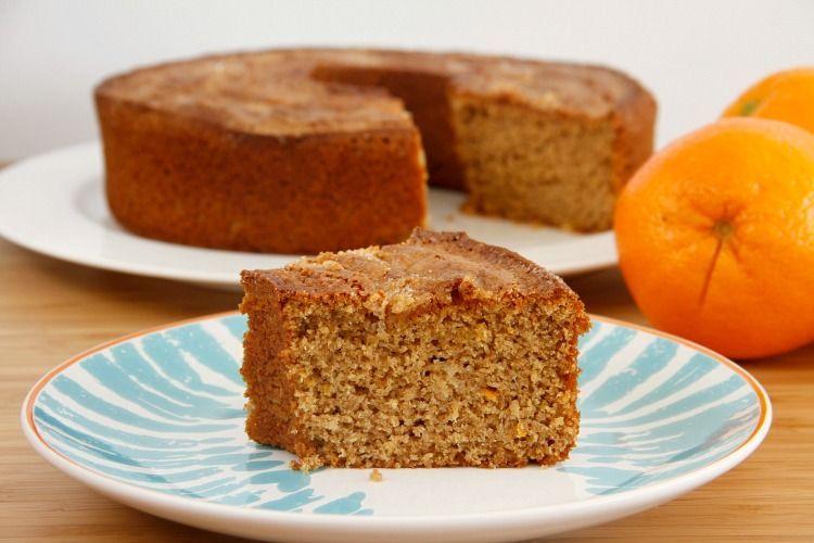 Bizcocho de naranja con harina de espelta - MisThermorecetas