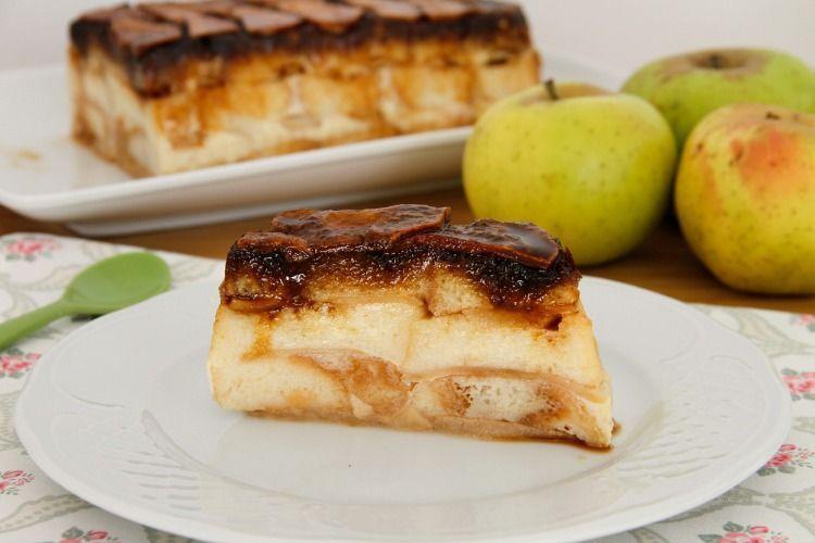 Pastel de manzana al vapor