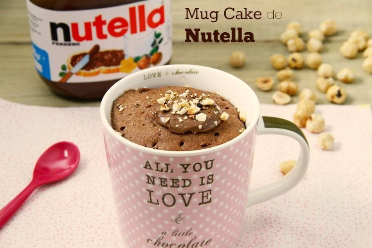Mug Cake de Nutella - MisThermorecetas
