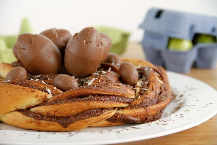 Nido de chocolate con huevos de Pascua - MisThermorecetas
