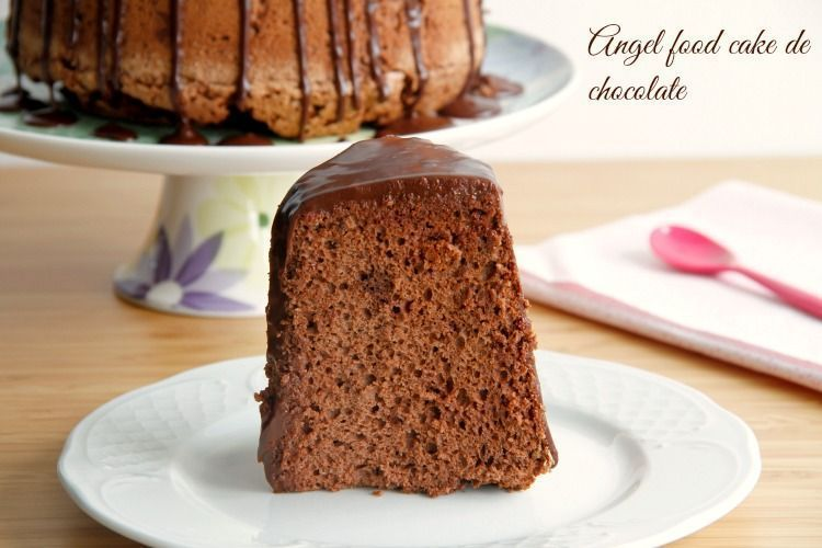 Angel food cake de chocolate - MisThermorecetas