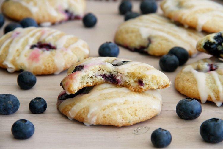 Cookies de queso con arándanos y glasa de limón - MisThermorecetas