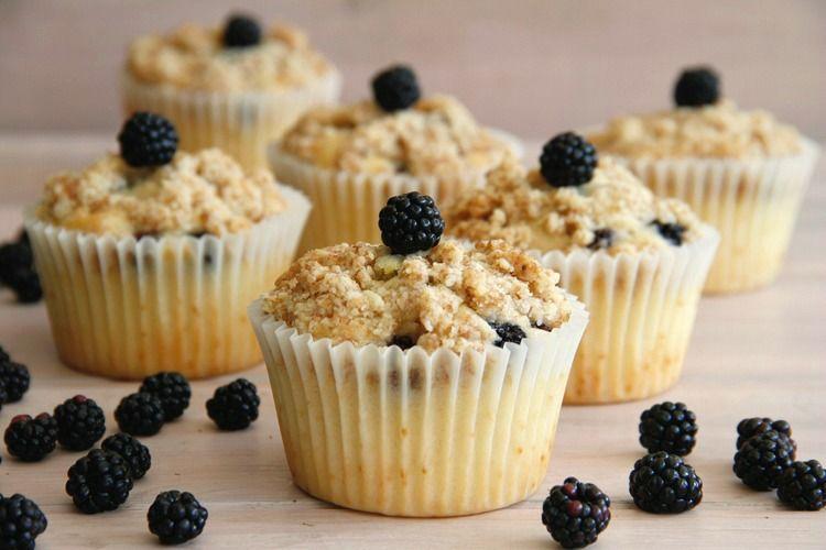 Muffins de moras - MisThermorecetas