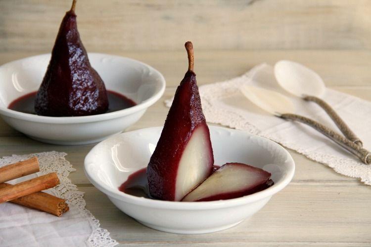 Peras al vino tinto - MisThermorecetas