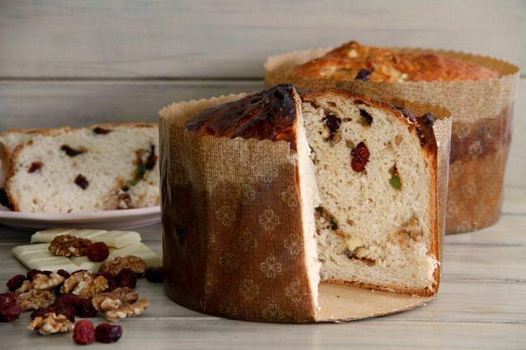 Panettone con nueces, arándanos y chocolate blanco - MisThermorecetas