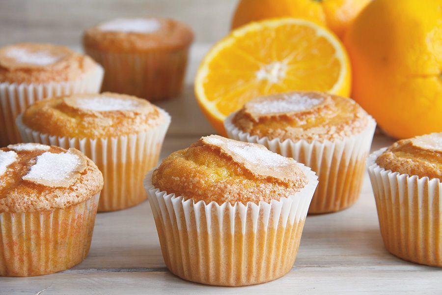Magdalenas de naranja, sin gluten