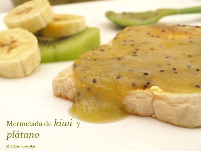 Mermelada de kiwi y plátano