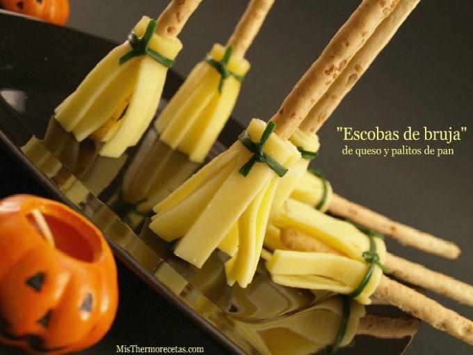 """Halloween: """"Escobas de bruja"""" de queso y pan"""