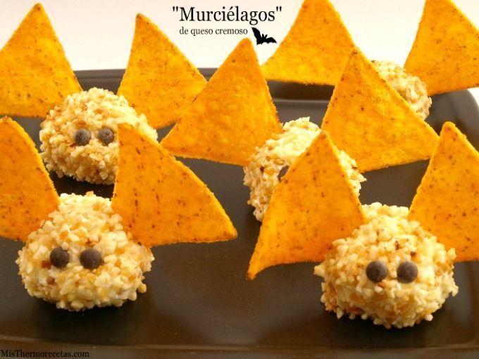 """Halloween: """"Murciélagos"""" de queso cremoso"""