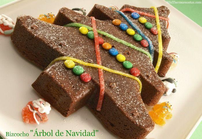 """Bizcocho """"Árbol de Navidad"""" (de chocolate)"""