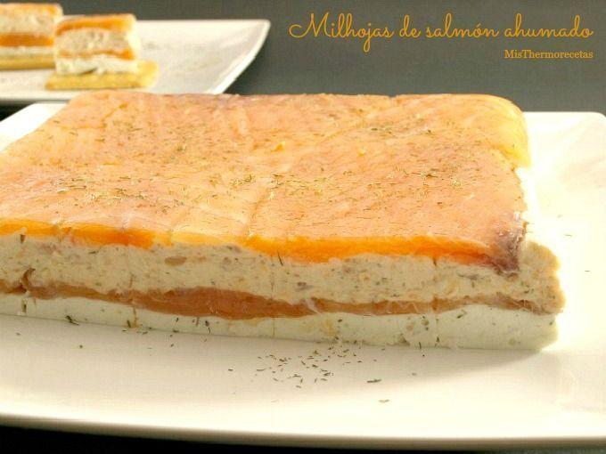 Milhojas de salmón ahumado - MisThermorecetas
