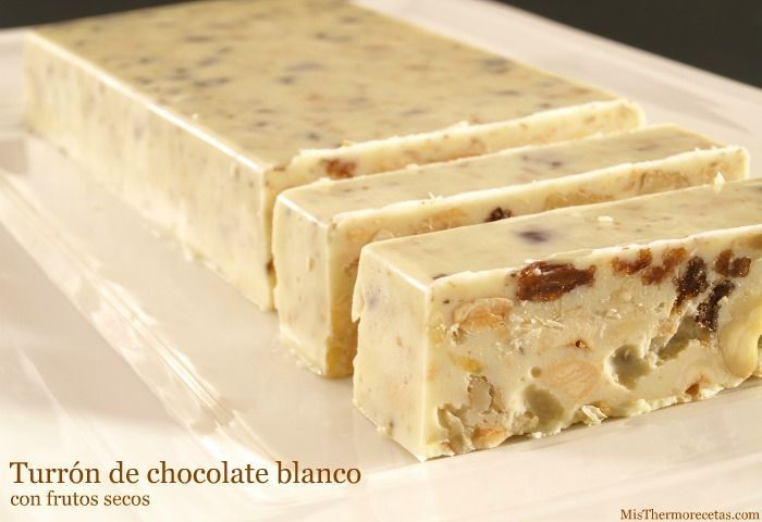 Turrón de chocolate blanco y frutos secos