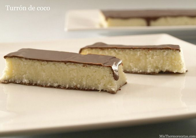 Turrón de coco y chocolate