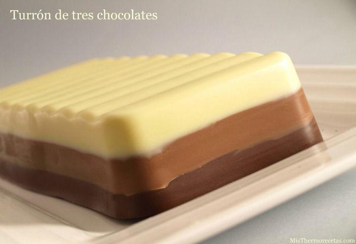 Turrón de tres chocolates