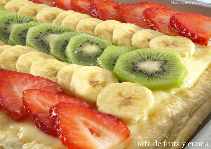 Tarta de fruta y crema