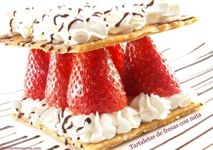 Tartaletas de fresas con nata