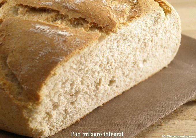 Pan rápido o pan milagro integral, en bolsa de asar