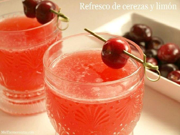 Refresco de cerezas y limón