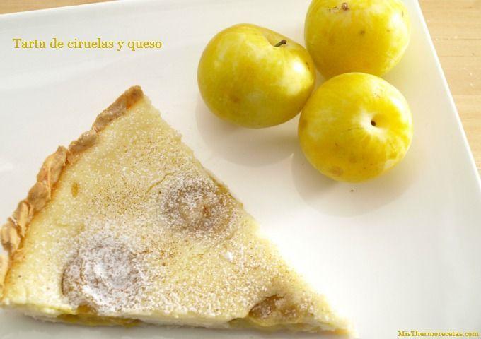Tarta de ciruelas y queso