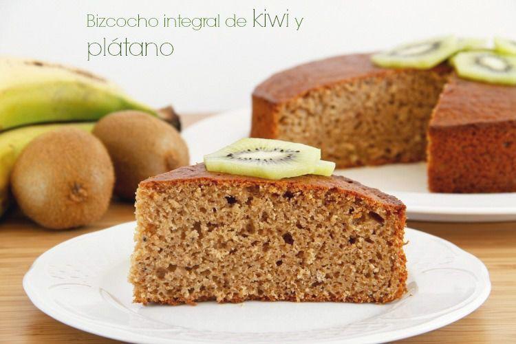 Bizcocho integral de kiwi y plátano