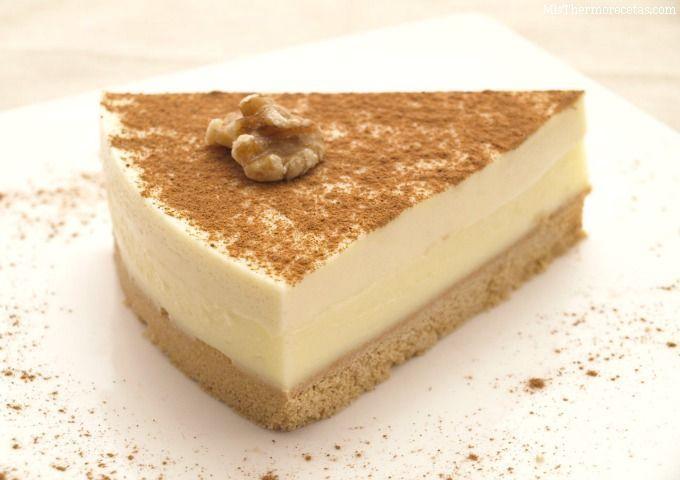 Tarta de queso y crema pastelera a la canela