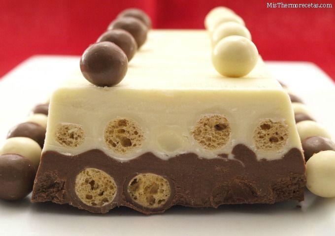 Turrón dos chocolates con Maltesers