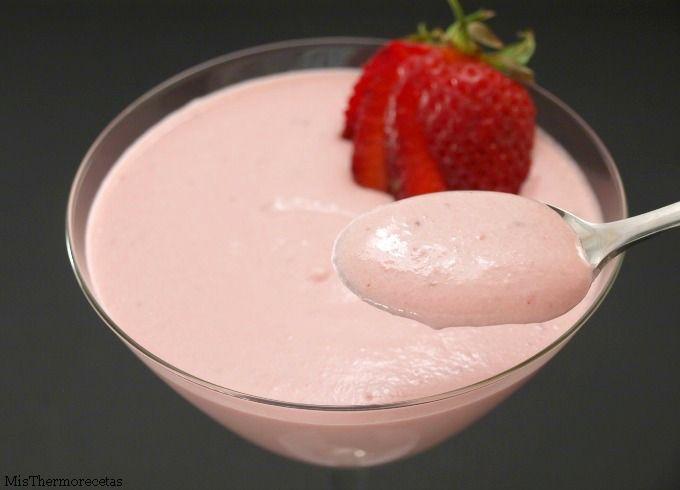 Crema de fresas y yogur