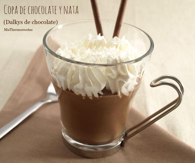Copa de chocolate y nata (Dalkys de chocolate)