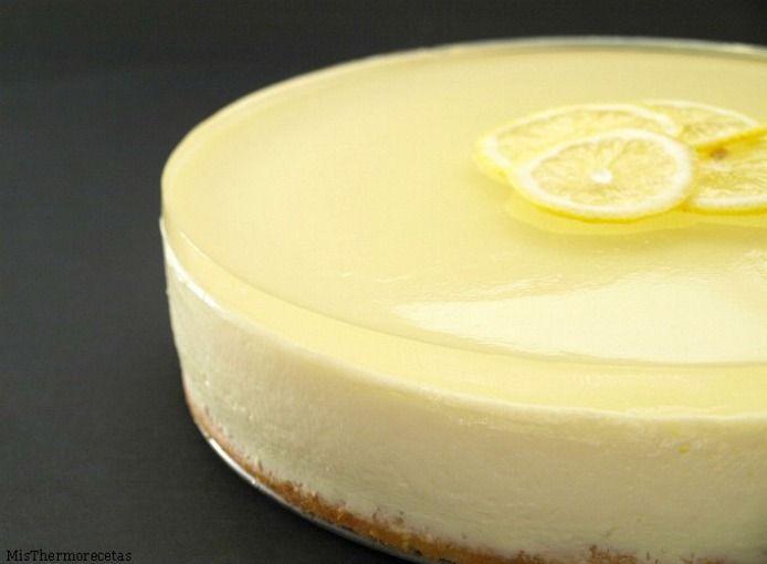 Tarta mousse de limón con gelatina de gin-tonic
