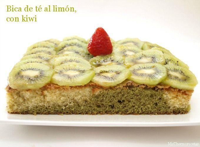 Bica de té al limón, con kiwi