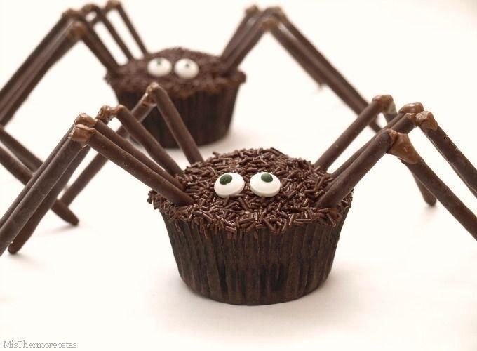 Halloween: Arañas de magdalenas
