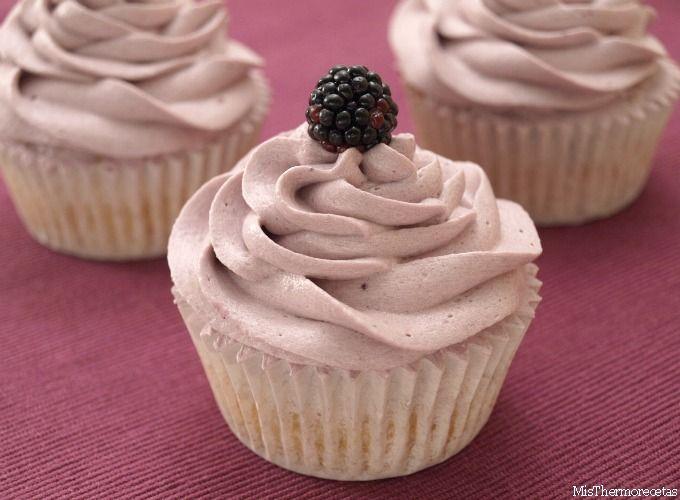 Cupcakes de moras silvestres