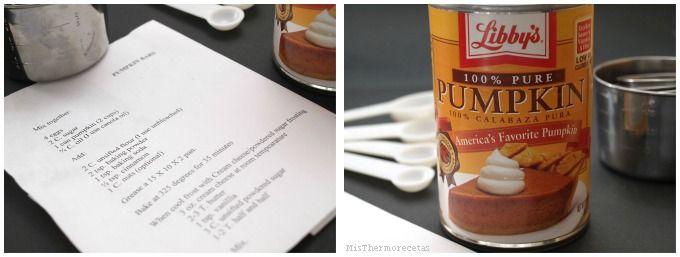 Pastel de calabaza con frosting de queso (Pumpkin Bars)